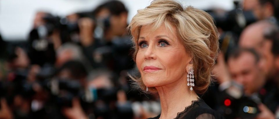 "71st Cannes Film Festival - Screening of the film ""Sink or Swim"" (Le grand bain) out of competition - Red Carpet Arrivals - Cannes, France, May 13, 2018 - Jane Fonda arrives. REUTERS/Jean-Paul Pelissier"