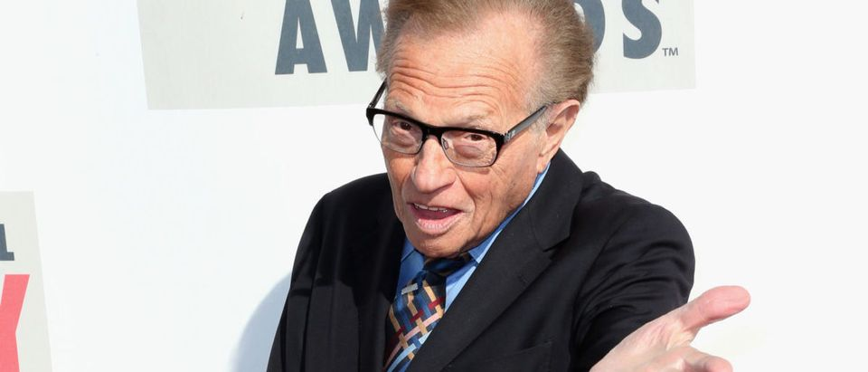 TV personality Larry King attends the 3rd Annual Streamy Awards at Hollywood Palladium on February 17, 2013 in Hollywood, California. (Photo by Frederick M. Brown/Getty Images)