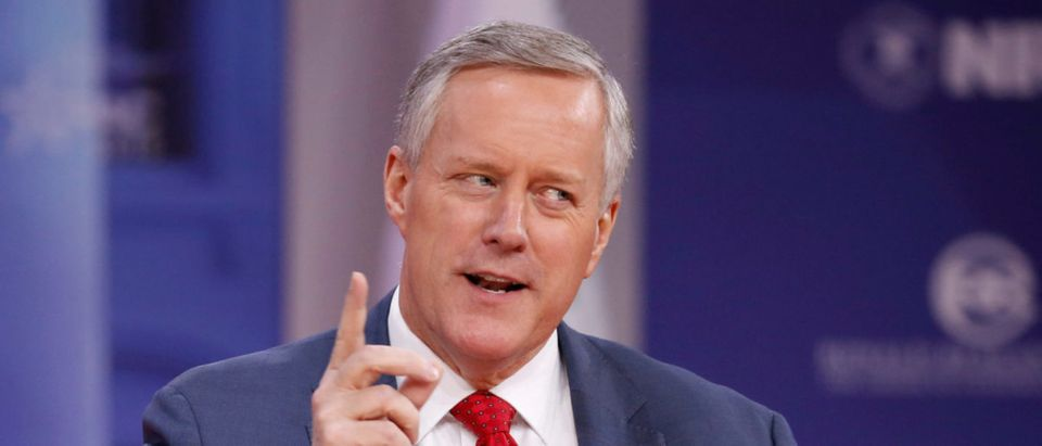 Rep. Mark Meadows speaks at the Conservative Political Action Conference (CPAC) at National Harbour, Maryland