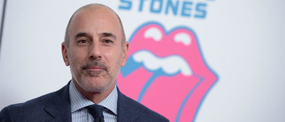 Matt Lauer attends The Rolling Stones celebrate the North American debut of Exhibitionism at Industria in the West Village on November 15, 2016 in New York City. (Photo by Jason Kempin/Getty Images for for The Rolling Stones)