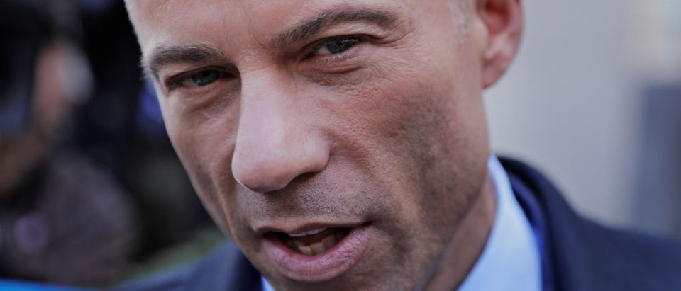 Stormy Daniels' attorney Michael Avenatti leaves federal court in the Manhattan borough of New York, U.S., April 26, 2018. REUTERS/Lucas Jackson