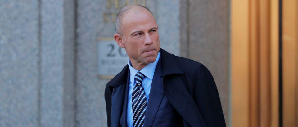 Stormy Daniels's attorney Michael Avenatti leaves federal court in the Manhattan borough of New York, U.S., April 26, 2018. (REUTERS/Lucas Jackson)