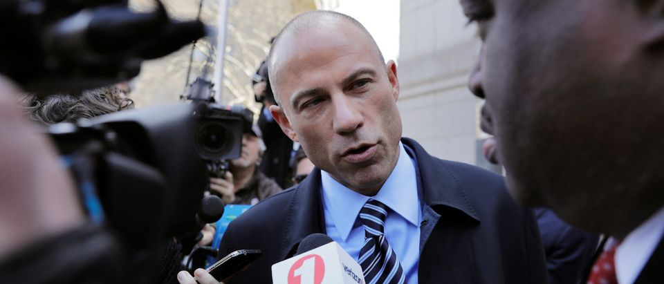 Stormy Daniels' attorney Michael Avenatti leaves federal court in the Manhattan borough of New York