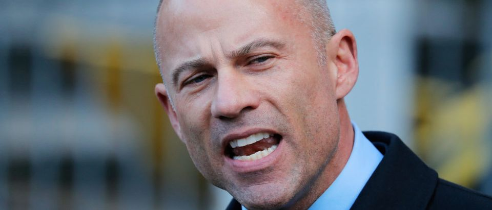 Michael Avenatti, lawyer for adult film actress Stephanie Clifford, also known as Stormy Daniels, speaks to media outside federal court in Manhattan