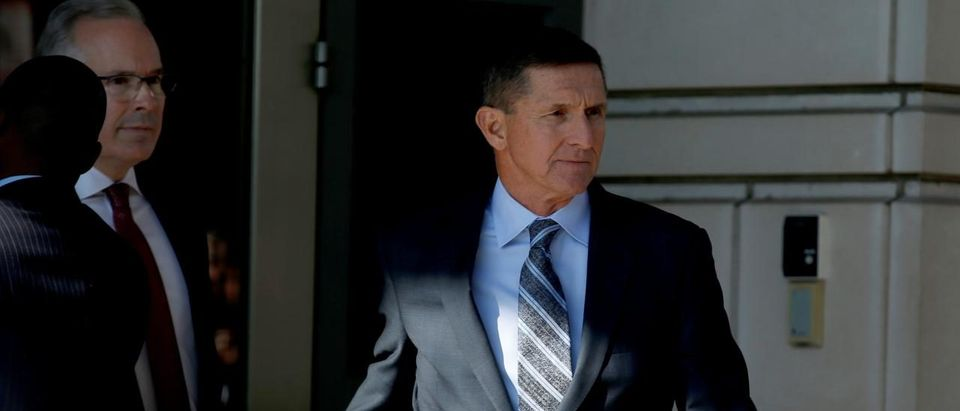 Former U.S. National Security Adviser Michael Flynn departs after a plea hearing at U.S. District Court, in Washington