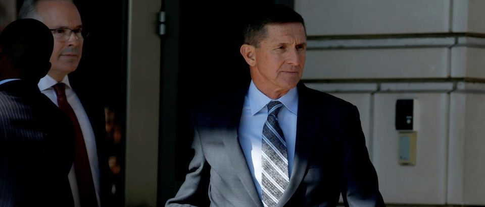 Former U.S. national security adviser Michael Flynn departs after a plea hearing at U.S. District Court, in Washington, U.S., Dec. 1, 2017. REUTERS/Joshua Roberts