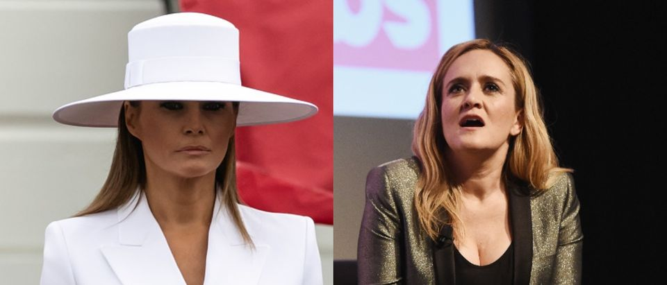 Melania Trump and Samantha Bee (Photo: Amanda Edwards/Getty Images and JIM WATSON/AFP/Getty Images)
