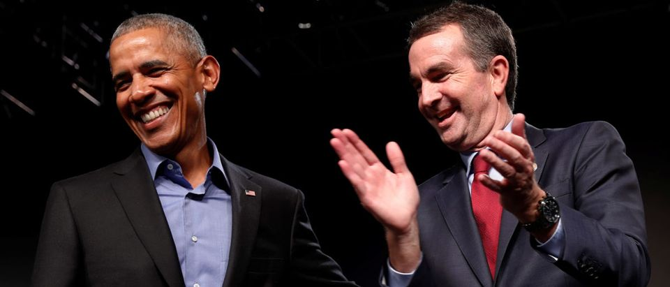Former U.S. President Barack Obama campaigns in support of Virginia Lieutenant Governor Ralph Northam (R), Democratic candidate for governor, at a rally with supporters in Richmond, Virginia, U.S. October 19, 2017. REUTERS/Jonathan Ernst