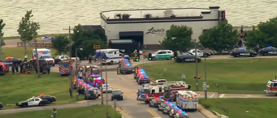Oklahoma City restaurant shooting (screengrab)
