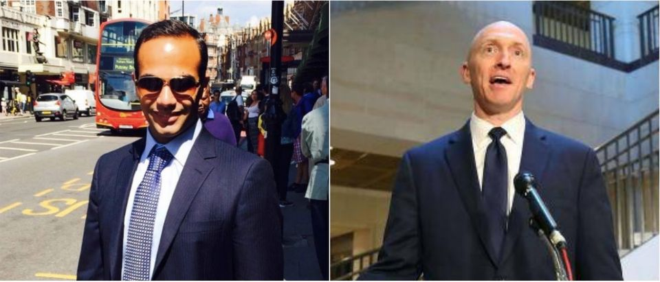 George Papadopoulos (left) and Carter Page (right). (LinkedIn and