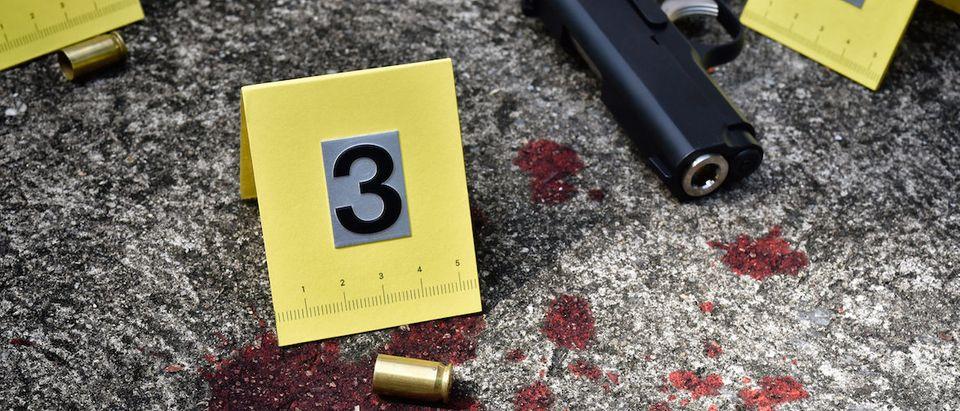 Photo Credit:Shutterstock:Gun:Blood