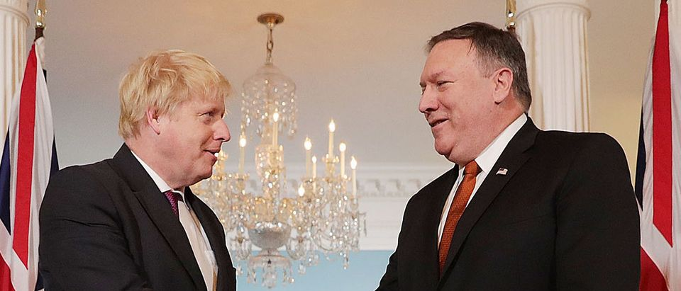 Secretary Of State Pompeo Meets With UK Foreign Secretary Boris Johnson