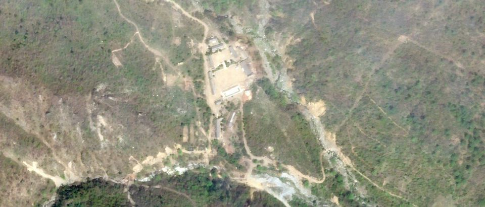 Satellite photo of the Punggye-Ri nuclear test site in North Korea