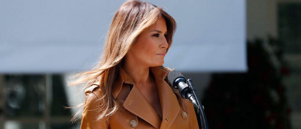 """U.S. first lady Melania Trump announces the launch of her """"Be Best"""" initiative at the White House in Washington"""