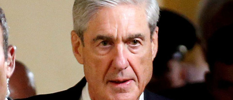 Special Counsel Mueller departs after briefing members of the U.S. Senate on his investigation in Washington