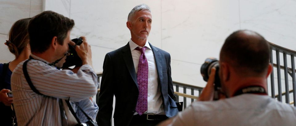 Gowdy arrives to take part in a closed-door committee meeting with Kushner on Capitol Hill in Washington