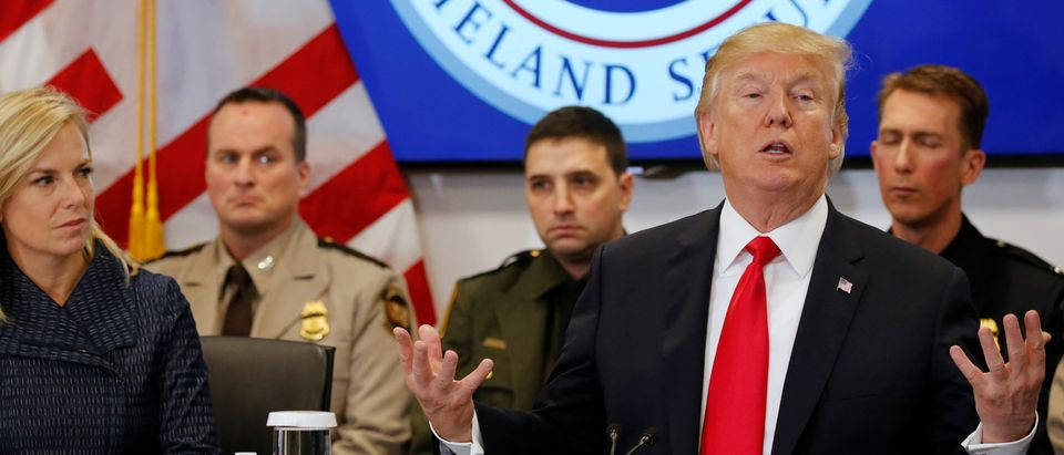 Trump visits the U.S. Customs and Border Protection's National Targeting Center in Sterling, Virginia