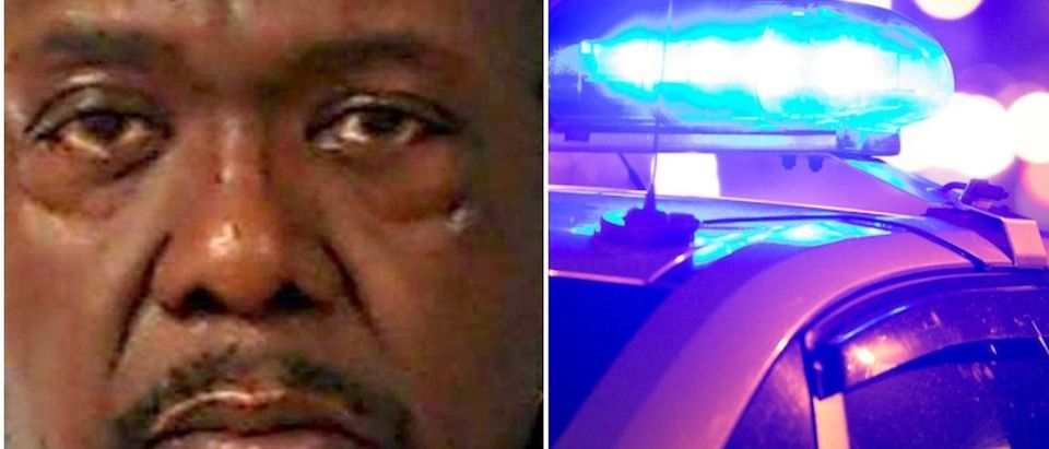 Robert Williams Jr:Mugshot:Nash County Jail--Shutterstock:Police Lights Flashing