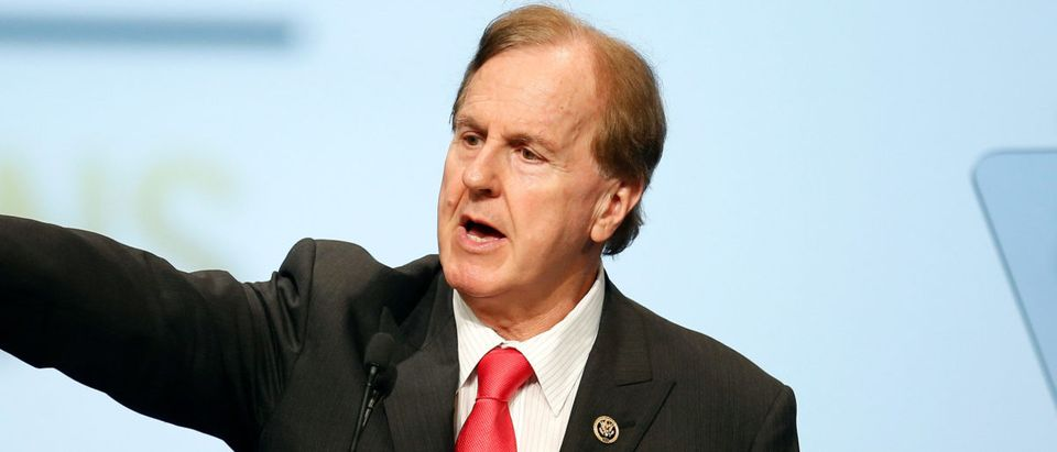 U.S. Representative Robert Pittenger speaks at the Veterans of Foreign Wars Convention in Charlotte