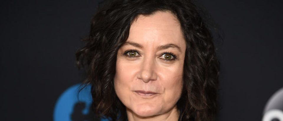 Actress Sara Gilbert of Roseanne attends during 2018 Disney, ABC, Freeform Upfront at Tavern On The Green on May 15, 2018 in New York City. (Photo by Dimitrios Kambouris/Getty Images)