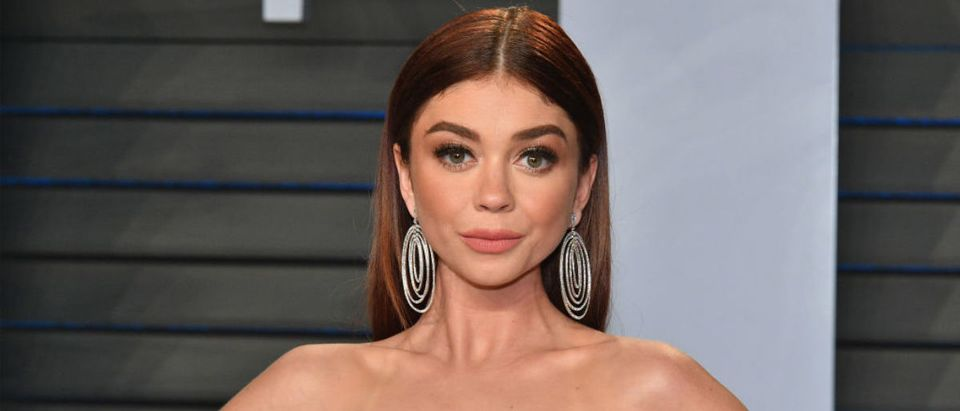 Sarah Hyland attends the 2018 Vanity Fair Oscar Party hosted by Radhika Jones at Wallis Annenberg Center for the Performing Arts on March 4, 2018 in Beverly Hills, California. (Photo by Dia Dipasupil/Getty Images)