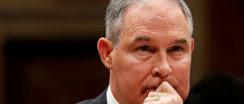 FILE PHOTO: EPA Administrator Pruitt testifies before a Senate Appropriations Subcommittee on Capitol Hill in Washington