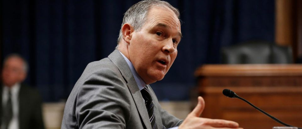 EPA Administrator Scott Pruitt testifies to the Senate Environment and Public Works Committee in Washington