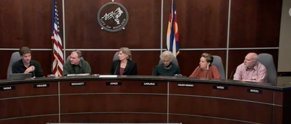 Boulder City Council Bans Guns (Video Screen Shot - The Denver Channel)