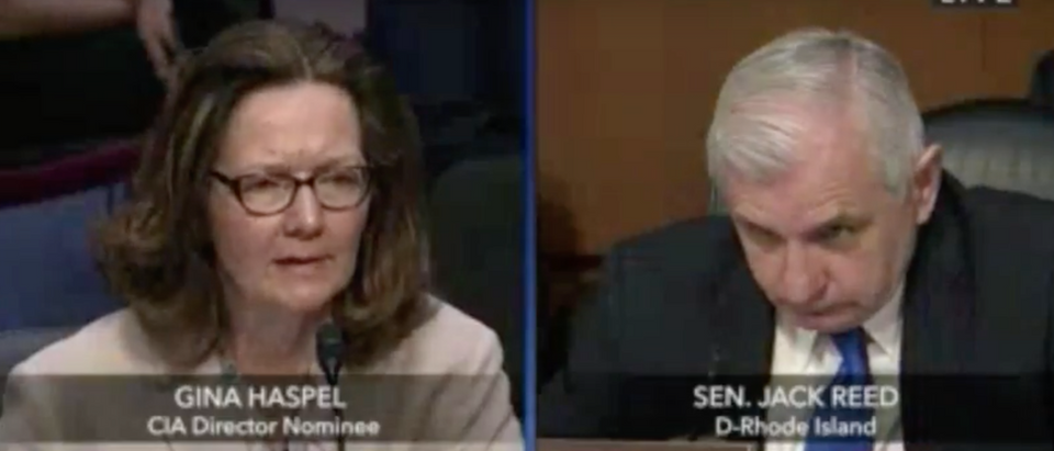Screen Shot:Youtube:Gina Haspel:Jack Reed | Gina Haspel Leaves Jack Reed Speechless