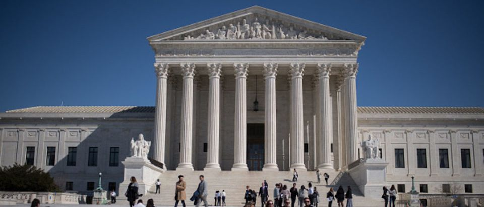 Visitors stand outside the U.S. Supreme Court in Washington, D.C., U.S., on Tuesday, Feb. 27, 2018. (Photo: Ron Antonelli/Bloomberg via Getty Images) | Mark Zuckerberg: 'Supreme Court' For FB