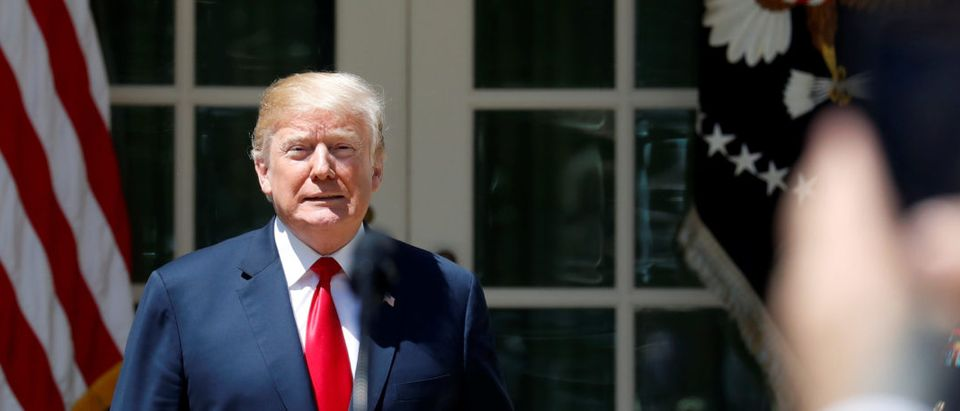 U.S. President Donald Trump approaches the lectern to take part in the National Day of Prayer ceremony at the White House in Washington, U.S., May 3, 2018. REUTERS/Leah Millis   Industries Suport Air Conditioner Rule
