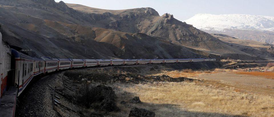 The Eastern Express travels through Erzincan province en route from Ankara to Kars, Turkey, February 7, 2018. REUTERS/Umit Bektas   Enviros Try To Stifle Major Rail Project