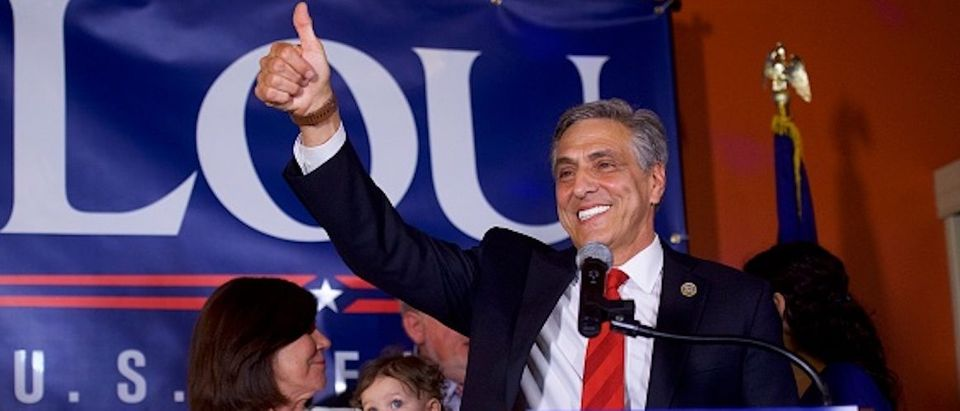 GOP Senate Candidate In Pennsylvania Rep. Lou Barletta Addresses Supporters After Results Of State's Primary Election Announced