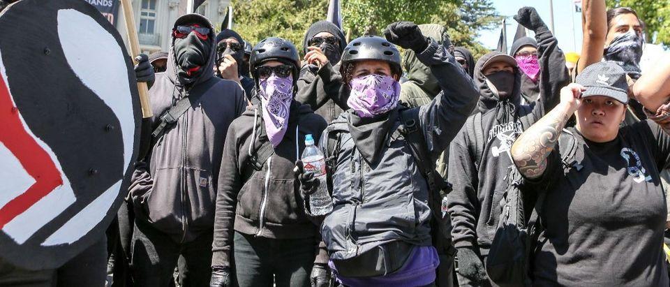 antifa AFP/Getty Images/Amy Osborne