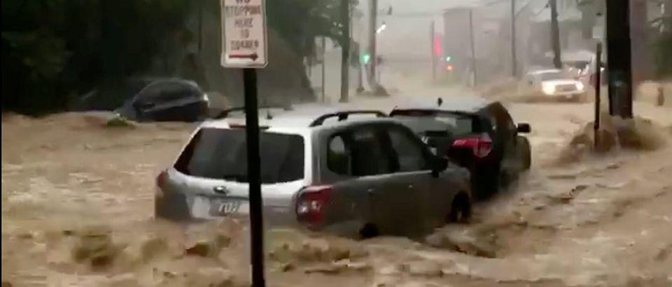 Flooding is seen in Ellicott City, Maryland, U.S