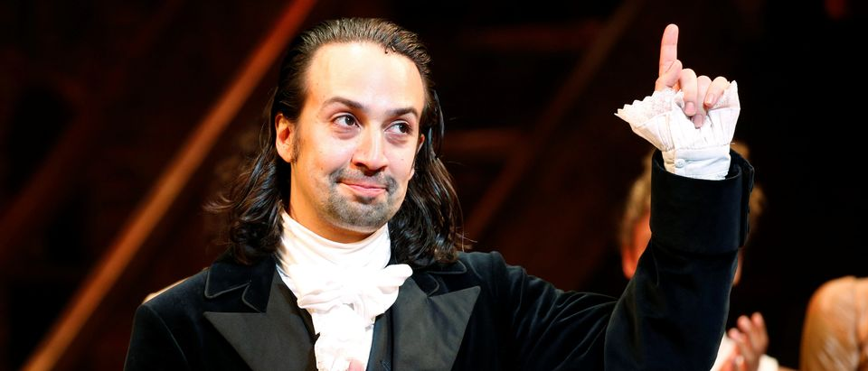 Actor Lin-Manuel Miranda greets spectators after taking part in his last performance with Hamilton in New York July 9, 2016. REUTERS/Eduardo Munoz