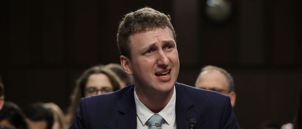 "WASHINGTON, DC - JUNE 19: Aleksandr Kogan, the developer of the app that allowed Cambridge Analytica to collect personal details of 80 million Facebook users, testifies before the Senate Subcommittee on Consumer Protection, Product Safety, Insurance and Data Security June 19, 2018 in Washington, DC. The committee heard testimony on the subject of ""Cambridge Analytica and Other Facebook Partners: Examining Data Privacy Risks."" (Photo by Win McNamee/Getty Images)"