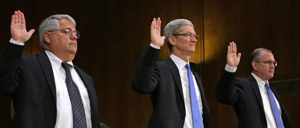 Apple CEO Tim Cook Testifies At Senate Hearing On U.S. Tax Code