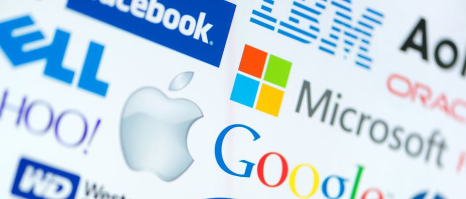 A collection of well-known tech companies. Companies like Apple, Microsoft, Google, and Facebook are meeting Wednesday to discuss the future of tech privacy. (Image: Shutterstock.com)