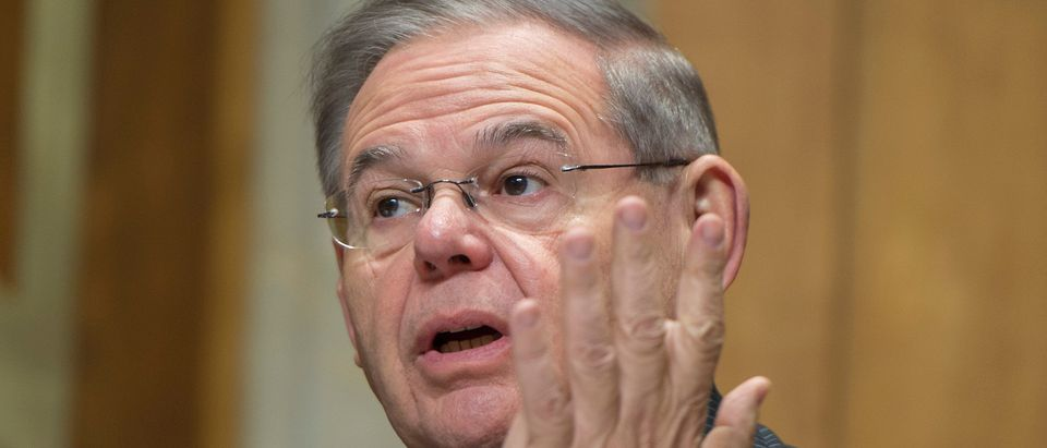 Democratic Sen. Bob Menendez of New Jersey speaks during a foreign relations hearing in Washington, DC (Photo: ANDREW CABALLERO-REYNOLDS/AFP/Getty Images)