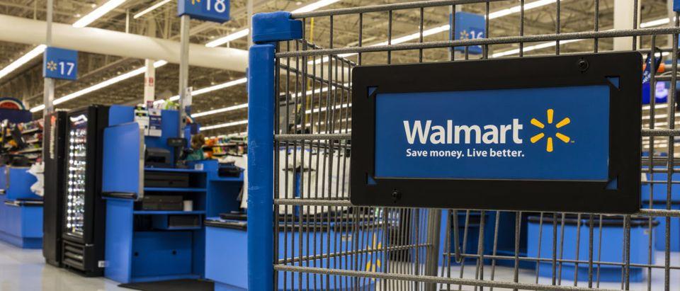 Cart sitting idle at a Walmart Retail Location -- ShutterStock -- Jonathan Weiss
