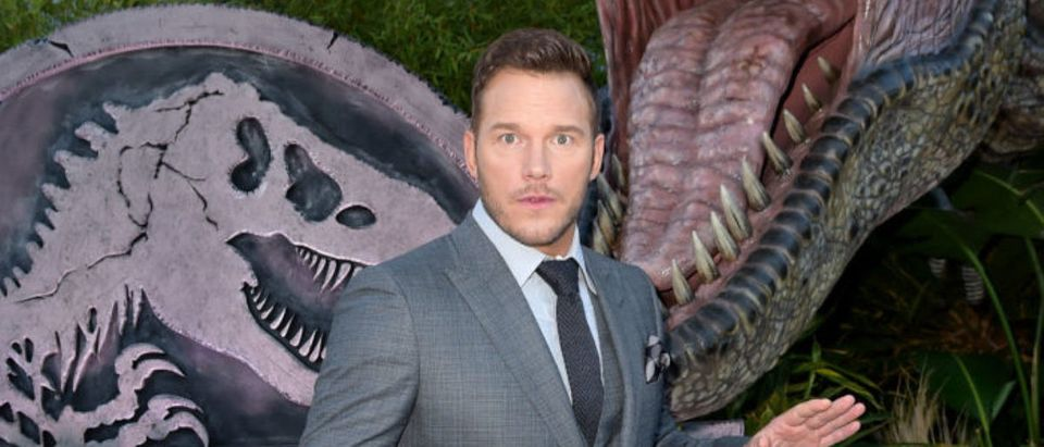 LOS ANGELES, CA - JUNE 12: Actor Chris Pratt arrives at the premiere of Universal Pictures and Amblin Entertainment's 'Jurassic World: Fallen Kingdom' at the Walt Disney Concert Hall on June 12, 2018 in Los Angeles, California. (Photo by Kevin Winter/Getty Images)