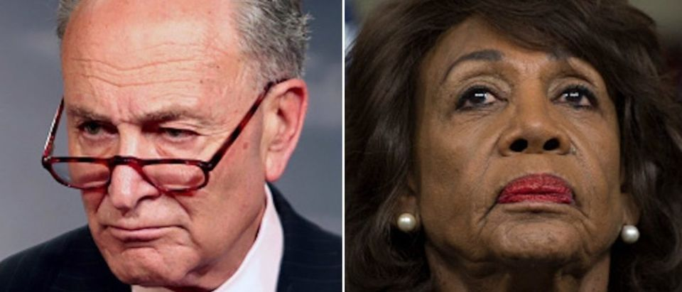 Chuck Schumer:Maxine Waters:Photo Combined:Getty Images