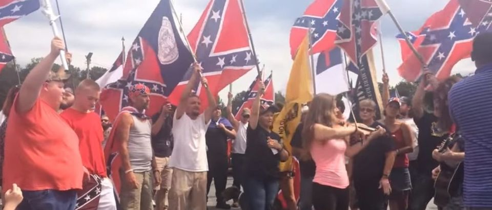 A patrol trooper removed a Confederate flag from his house in Washington after a public records request caught the eye of his superiors. (Photo Credit: YouTube/Wall Street Journal)
