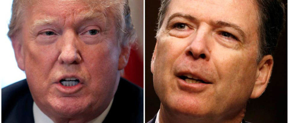 A combination of file photos show U.S. President Trump and former FBI Director Comey in Washington
