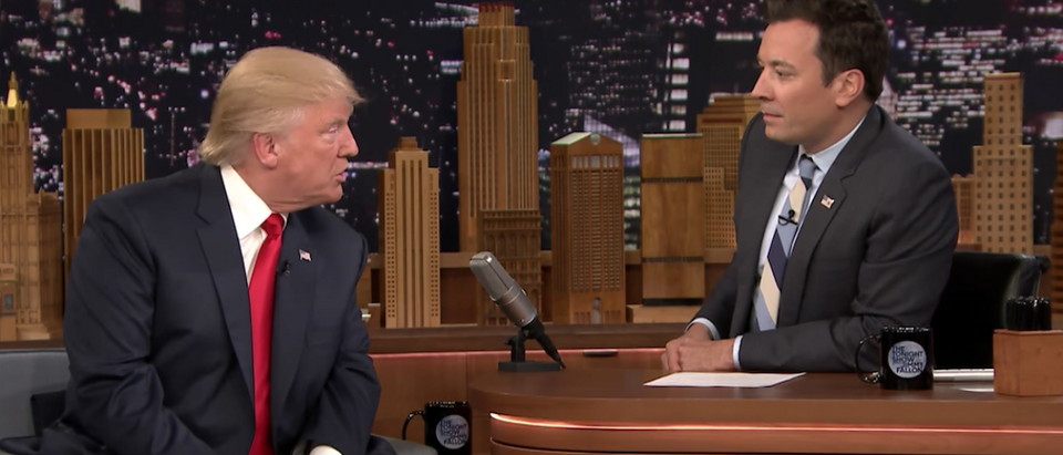 Donald Trump Talks Media Coverage with Jimmy Fallon:Screen Shot:Youtube