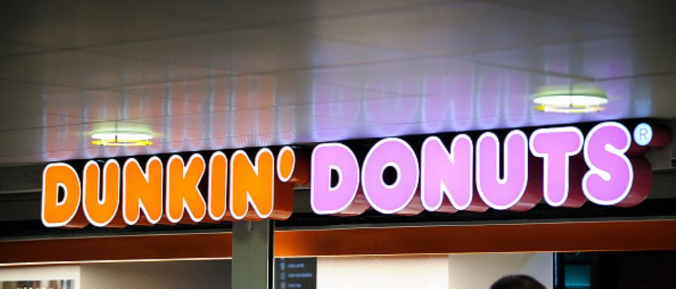 A Dunkin Donuts shop is seen in the Warsaw Central Station in Warsaw, Poland on April 4, 2018. (Photo by Jaap Arriens/NurPhoto via Getty Images)