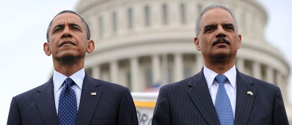 Eric Holder and Barack Obama Getty Images/Pool