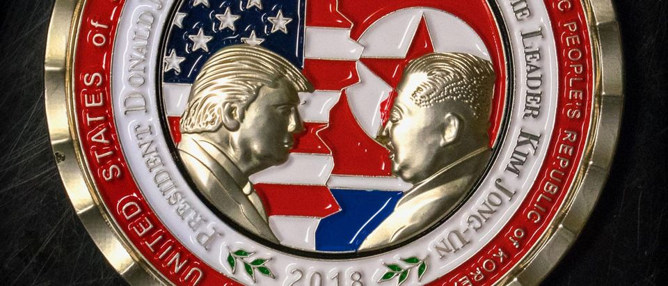 US-NKOREA-TRUMP-KIM-COIN