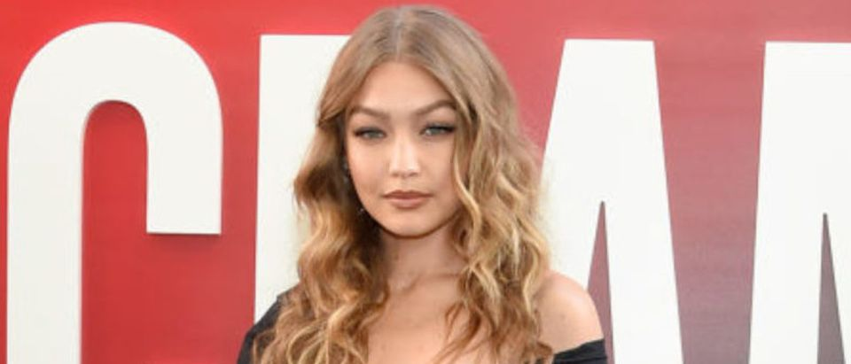 "Gigi Hadid attends the ""Ocean's 8"" World Premiere at Alice Tully Hall on June 5, 2018 in New York City. (Photo by Jamie McCarthy/Getty Images)"